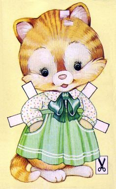 Cat from Finland Paper Dolls