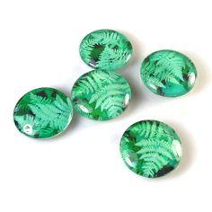 Fern Tile Magnets, Green Magnets.    via Etsy.