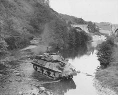 Two American M10 Wolverine Tank destroyers in France during WW II.