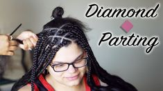Try new parting patterns for your box braids. Explore triangle, pentagon, jumbo squares, and more. Box Braids Hairstyles For Black Women, Braids For Black Hair, Twist Hairstyles, Triangle Part Braids, Curly Hair Styles, Natural Hair Styles, Natural Curls, Hair Patterns, Box Braids Styling