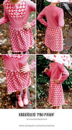 "Mini-Masha von ""Diesichtraut"": http://de.dawanda.com/product/106471287-schnittmuster-kleid-shirt-mini-masha-92-164"
