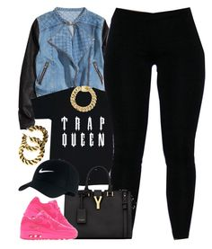 Untitled #1290 by power-beauty on Polyvore featuring polyvore, fashion, style, H&M, Yves Saint Laurent and NIKE