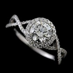 diamond pave set infinity platinum engagement ring - My Engagement Ring