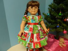 Puppy Dog for Christmas Tree  Dress for American Girl by renwill22