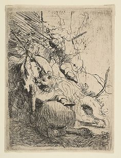 The Small Lion Hunt (with One Lion) Rembrandt (Rembrandt van Rijn) (Dutch, Leiden Amsterdam) Date: ca. 1629 Medium: Etching Classification: Prints Credit Line: Harris Brisbane Dick Fund and Elisha Whittelsey Fund, by exchange Accession Number: Rembrandt Etchings, Rembrandt Drawings, Leiden, Paul Klee Art, Baroque, Dutch Artists, Ink Pen Drawings, Equine Art, Gravure