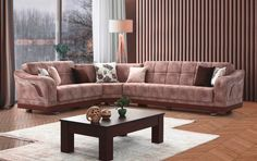 Γωνιακός καναπές κρεβάτι ATIRAGRAM   Epiplo Set Decor, Furniture, Sofa, Sectional Couch, Home Decor, Saloni
