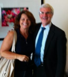 """Me with Dr. Steven Gundry, famous heart surgeon and author of Number 1 best selling book """"The Diet Evolution."""" He has changed our lifestyle and added possibly many years to our lives!"""