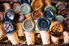 Ceramic Wine Stoppers by JasonWolffPottery on Etsy Slab Pottery, Ceramic Pottery, Pottery Art, Pottery Ideas, Wine Bottle Stoppers, Cork Stoppers, Fimo Clay, Ceramic Clay, Ceramic Jewelry