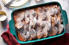 This easy Eggnog French Toast Casserole brings all the flavor of the festive beverage to a one-dish breakfast you can bake ahead of Christmas brunch. Make Ahead Breakfast Casserole, French Toast Casserole, Breakfast Dishes, Breakfast Recipes, Breakfast Items, Morning Breakfast, Breakfast Club, Breakfast Specials, Martha Stewart
