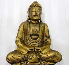 Ateliê Le Mimo: ORIENTAIS Buda Tibetano médio - peça em gesso