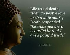 Life is a beautiful lie while death is a painful truth.