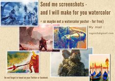 Watercolor game posters free