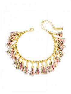 Ale by Alessandra x BaubleBar Festival Tassel Bracelet