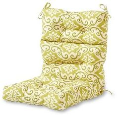 Greendale Home Fashions Shoreham High Back Patio Chair Cushion at Lowe's. The Greendale Home Fashions Three Section High Back Chair Cushion will add both style and comfort to your outdoor furniture. Each cushions measures 44 x Chair Cushions Walmart, Patio Furniture Cushions, Deep Seat Cushions, Outdoor Lounge Chair Cushions, Outdoor Chair Cushions, Patio Chairs, Cushions On Sofa, Outdoor Fabric, Outdoor Furniture