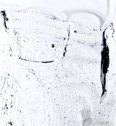 Maison Martin Margiela White Paint Jeans - Size 34 - £145 -  Available from Strut Man - Stoke Newington - North London - Click the image to purchase.