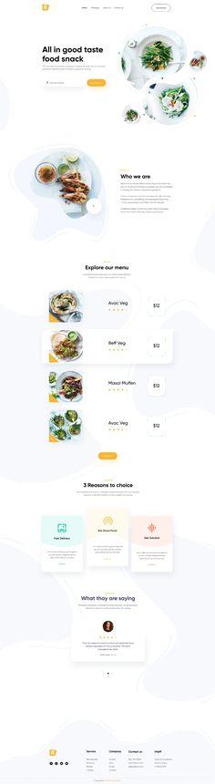 Coffee Restaurants, Web Design, Restaurant Website, Snack Recipes, Snacks, Food Tasting, Landing Page Design, Design Inspiration, Snack Mix Recipes