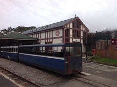 Across the platform level but over tracks towards cafe at Ravenglass Platform, Cabin, House Styles, Home Decor, Homemade Home Decor, Wedge, Cabins, Cottage, Decoration Home