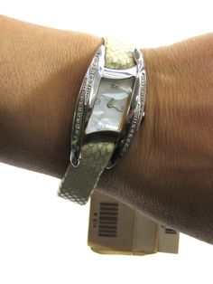 Roberto Cavalli Women Watch Jewelry Pyhton Crystals Bracelet Lorena's WORTH