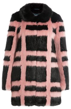 SHRIMPS - Plaid jacket of faux fur | STYLEBOP.com