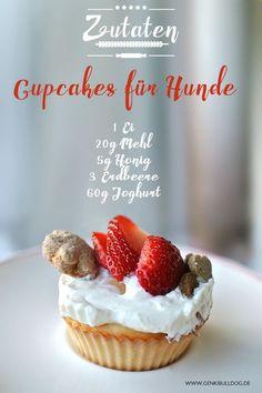Pupcakes - Cupcakes für Hunde selbst backen Rezept auf www.genkibuldog.de
