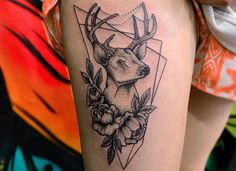 Tatuajes de ciervos y su significado, simbolizando el renacer y la longevidad - http://www.tatuantes.com/tatuajes-de-ciervos-significado/ #tattoo