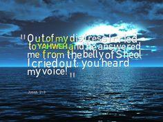 Jonah 2:3 Prophet Jonah, The Voice, Crying