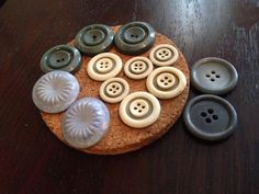 Collection of vintage red buttons by dishreincarnation on Etsy