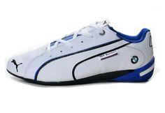 Puma BMW Future Cat M1 Big Leather Mens Motorsport Shoes White/Blue - €79.99 : z9z6