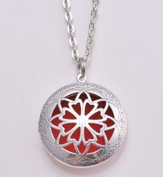 """coupon: FREEDiffuser - Free Essential Oil Diffuser Aromatherapy Pendant, necklace jewlery antique silver locket with 20"""" Chain when you pay shipping"""