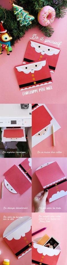 DIY : l'enveloppe du Père Noël