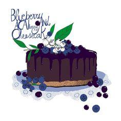 illustration pour by Sophie Truant Blueberry Cake, Birthday Cake, Illustration, Instagram Posts, Desserts, Food, Tailgate Desserts, Blueberry Grunt, Deserts