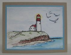 Lighthouse watercolor by Betty from Sweet Irene's Inspirations