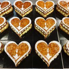 """544 mentions J'aime, 7 commentaires - Julien LAMBERT  (@lambert__julien) sur Instagram: """"Mille-feuille❤ #mille #feuille #classic #patisserie #pastry #saint #valentin #love #amour #coeur…"""""""