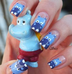 Hippo Nail Art Tutorial   /   Beauty By Suzi : Nail Art & Design