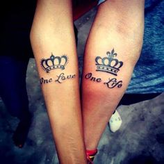 cool couple tattoo