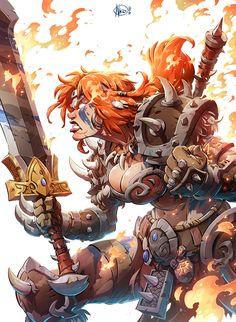 r/ImaginaryWarriors: Artwork of warriors, gladiators and all other fighters. Dark Fantasy Art, Fantasy Girl, Image Comics, Fantasy Character Design, Character Art, Comic Books Art, Comic Art, Heroes Of The Storm, Art Anime