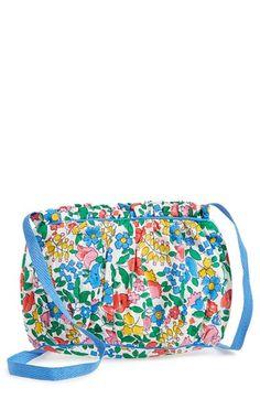 Girl's Mini Boden Floral Print Bag - Blue