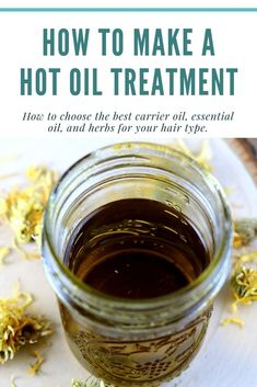 How to Make a Hot Oil Treatment for Hair | Hot oil treatment, Diy hair treatment, Oil treatment for