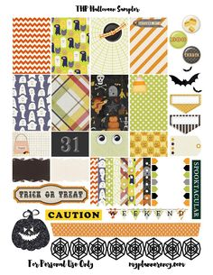 Free Printable Halloween Sampler for the MAMBI Happy Planner