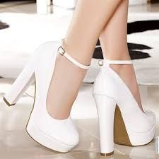 Paper Dolls White Snakeskin Peep Toe Block Heels | Personal ...