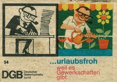 https://flic.kr/p/6ckAXu | german matchbox label | DGB - The Confederation of German Trade Unions