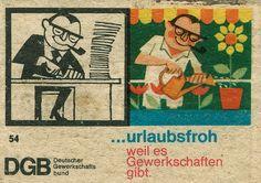 https://flic.kr/p/6ckAXu | german matchbox label | DGB - The Confederation of German Trade Unions