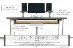 Musician's Custom Recording Desk