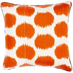 Madeline Weinrib Mu Ikat Pillow (1,900 ILS) ❤ liked on Polyvore featuring home, home decor, throw pillows, pillows, orange, orange home decor, madeline weinrib, orange throw pillows, ikat throw pillows and orange toss pillows