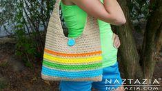 DIY Learn How to Make & Crochet Easy Beginner Tote Bag Handbag Purse Sum...