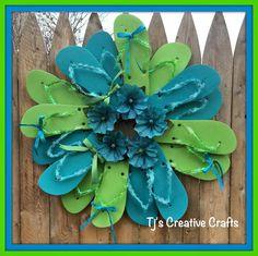 DIY Flip Flops Wreath