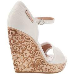 Chloe carved wood Anabella heels
