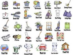 free printable chore clip art bing images chore chart rh pinterest com Household Chores Clip Art chore chart clip art for kids