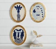 Emily & Meritt Framed Animal Art #pbkids - I LOVE the giraffe