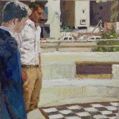 Yisrael Dror Hemed, Square, 2011, oil on canvas, 50x51 cm